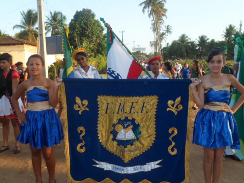 1º desfile da Independência do Brasil realizado na comunidade de Pindobal
