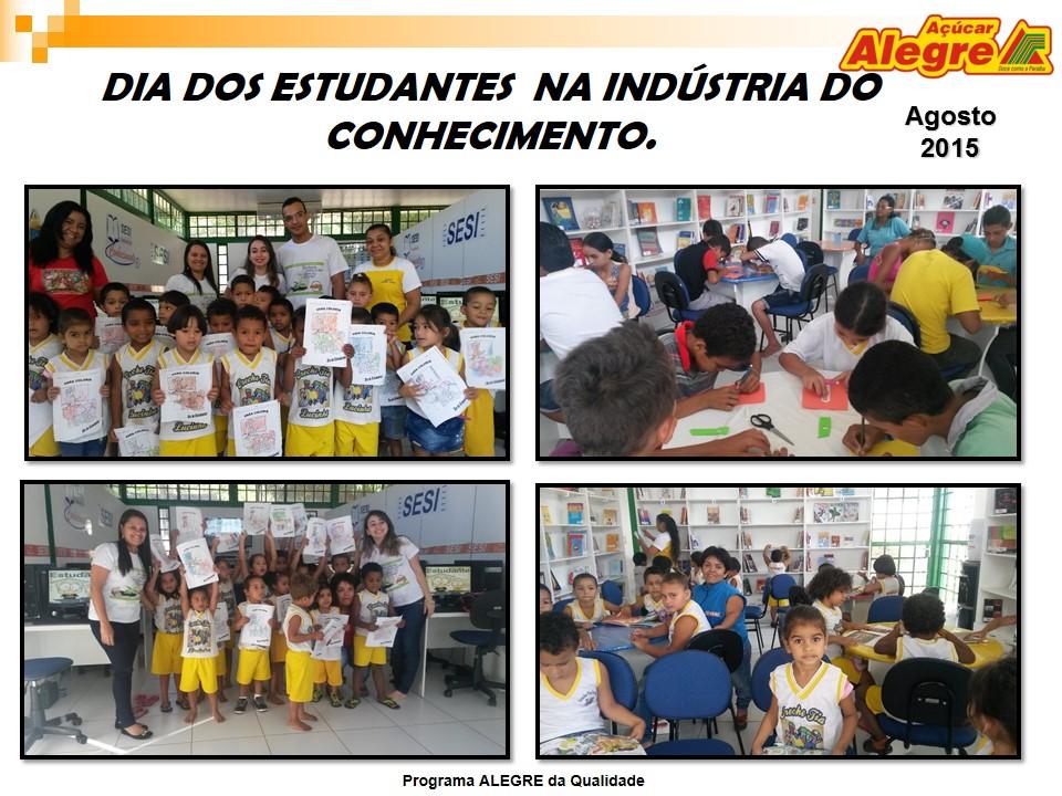 Dia do estudante é comemorado na Indústria do conhecimento do Açúcar Alegre