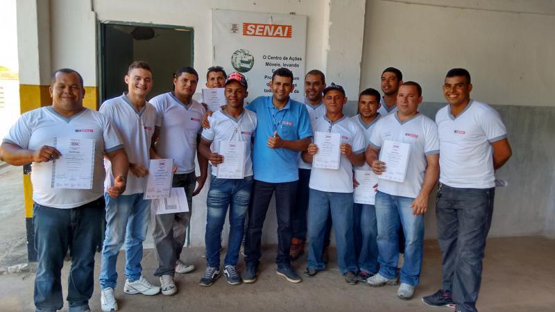Colaboradores do Açúcar Alegre concluem Curso de Mecânico de Motores Diesel